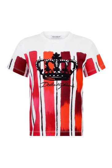 Dolce & Gabbana Boys Red Cotton T-Shirt
