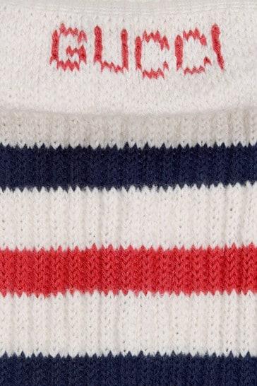 Kids White Cotton Socks