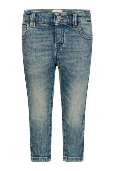 Baby Blue Stone Washed Denim Jeans
