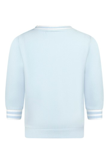 베이비 보이즈 블루 코튼 스웨터