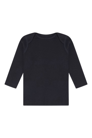 Baby Boys Navy Cotton Outfit