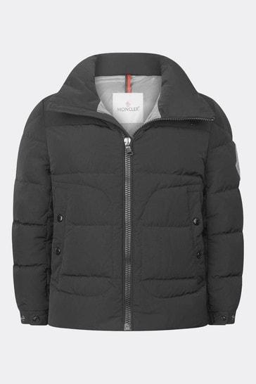 Boys Black Down Padded Badenne Jacket