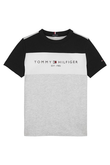 Tommy Hilfiger Boys Grey Cotton T-Shirt