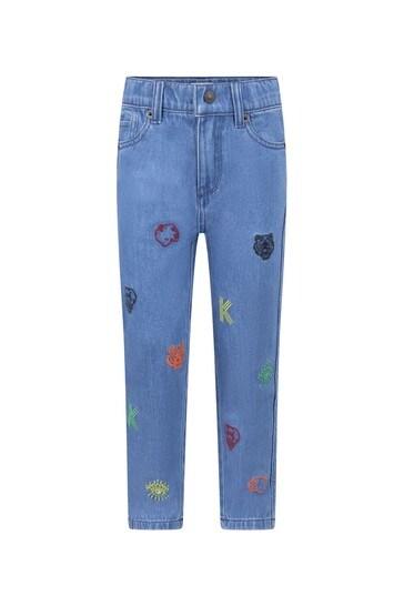 Boys Blue Denim Logo Jeans