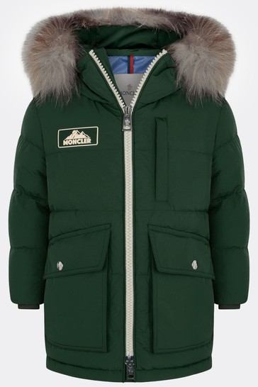 Boys Green Down Padded Coat