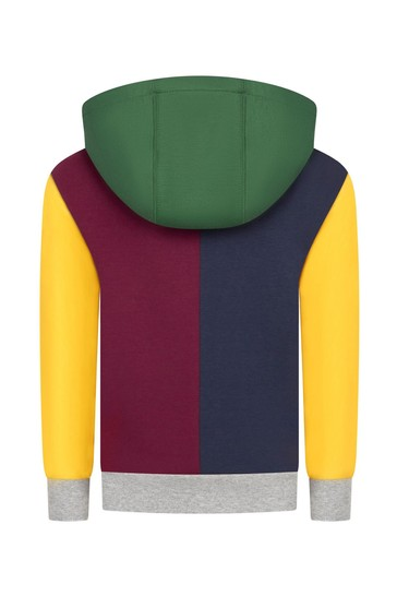 Boys Multi-Coloured Cotton Hoodie