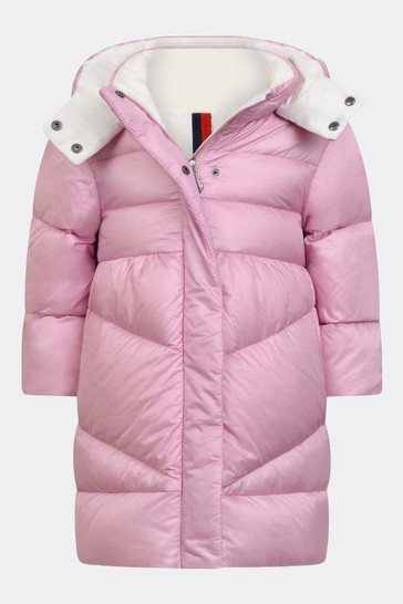 Baby Girls Pink Down Padded Vegne Coat