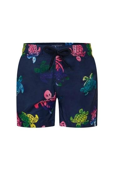 Boys Navy Tutles Swim Shorts