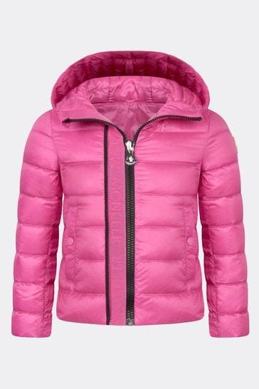 Moncler Girls Pink Glycine Jacket