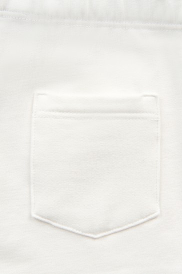Baby Boys White Cotton Jersey Shorts