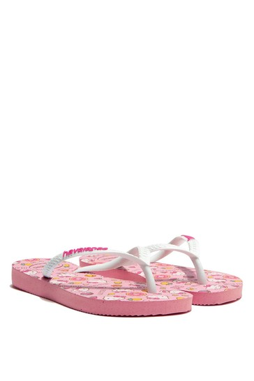 Girls Pink Hello Kitty Flip Flops