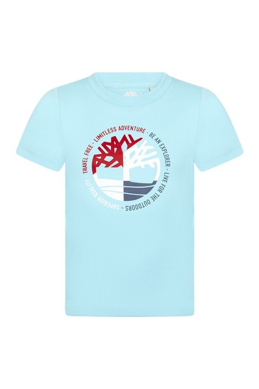 Timberland Boys BLUE Cotton T-Shirt