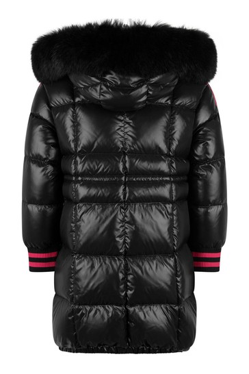 Girls Black Down Padded Fatale Coat