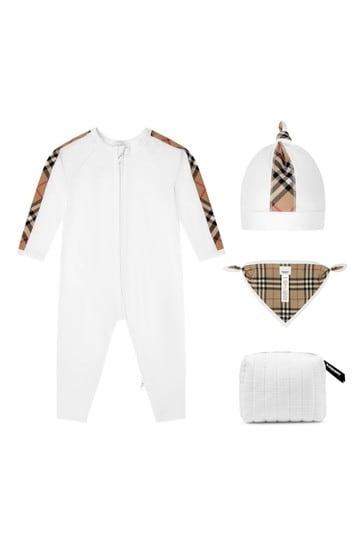 Baby Boys White Cotton Gift Set