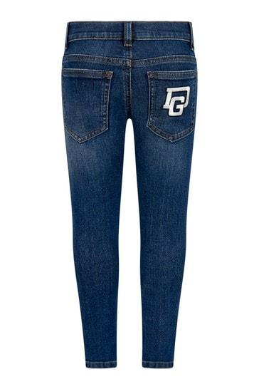 Dolce & Gabbana Boys Navy Cotton Jeans
