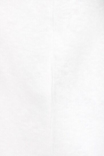 Baby Girls White Cotton Blend T-Shirt