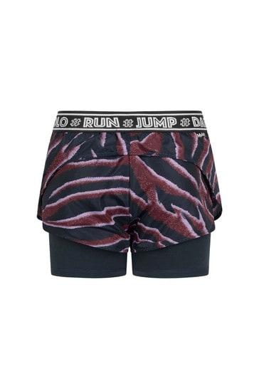 Girls Purple Zebra Stripe Shorts