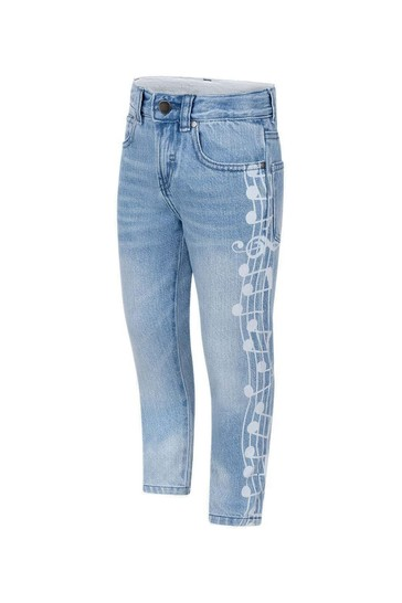 Boys Blue Denim Music Notes Jeans