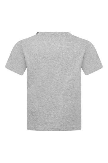 베이비 보이즈 그레이 코튼 저지 티셔츠