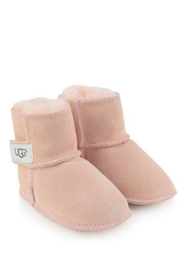 Pink Suede Erin Booties