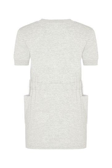 Girls Grey Cotton Dress