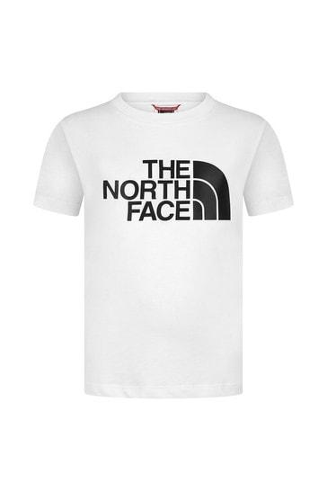 Kids White Cotton Logo T-Shirt