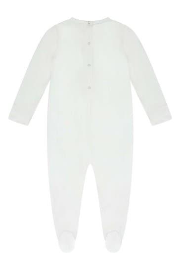 Ivory Cotton Babygrow
