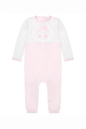 아기 소녀 핑크 코튼 장난 꾸러기