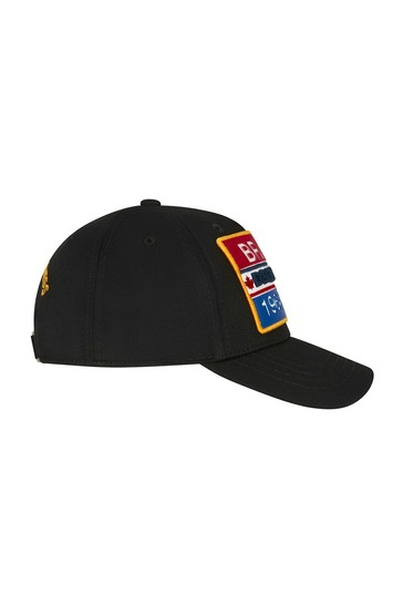 Boys Black Cotton Cap