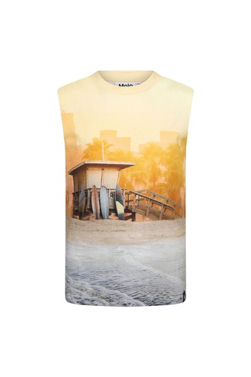 Molo Boys Yellow Cotton T-Shirt