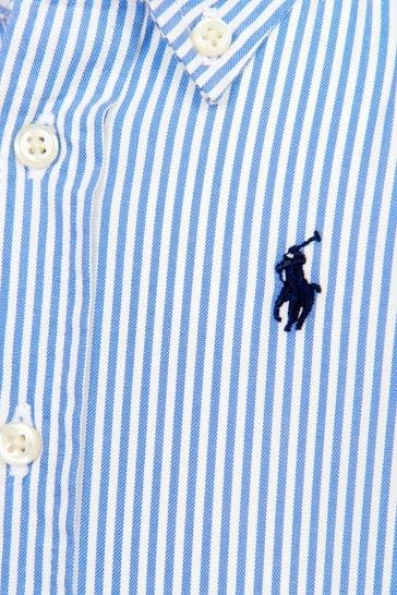 Baby Boys Blue Cotton Shirt