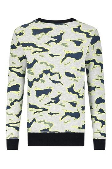 Timberland Boys Grey Cotton Sweat Top