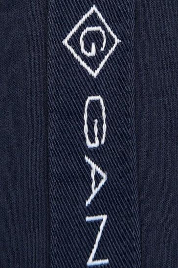 Boys Navy Cotton Logo Hoodie