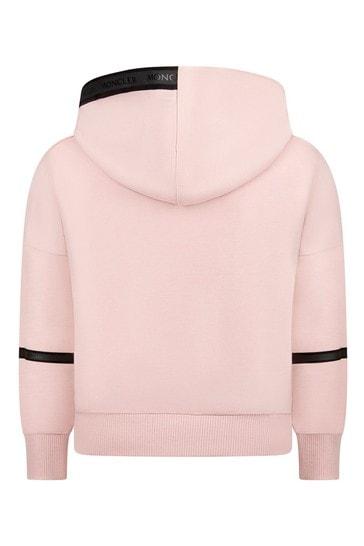 Moncler Girls Pink Cotton Hoody