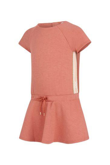 Girls Orange Jersey Dress