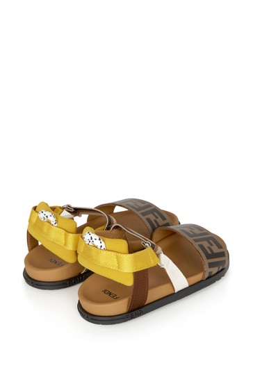 Kids Brown Leather Sandals