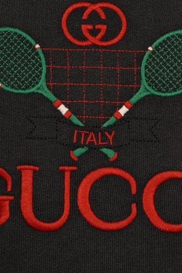 Baby Boys Grey Cotton Tennis Sweater