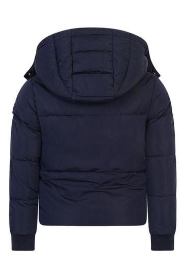 걸스 네이비 패딩 재킷