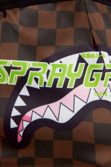 Kids Brown Thunder Logo Sharks In Paris Face Mask