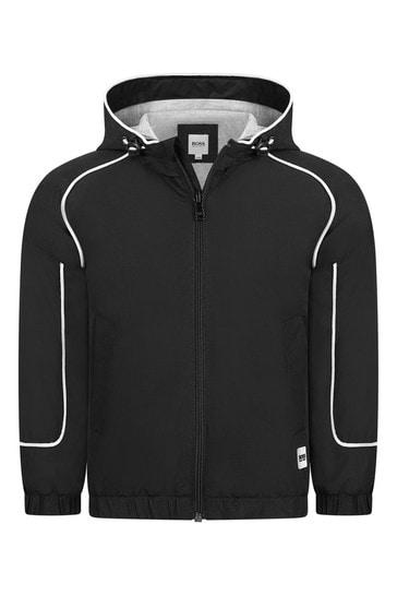 Boys Black Cotton Jacket