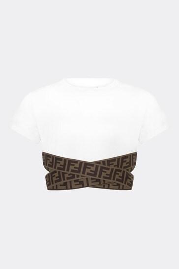 Girls White Cotton Top