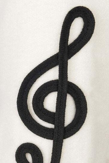 Kids Ivory Music Notes Jacket