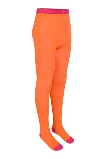 Girls Orange Cotton Tights