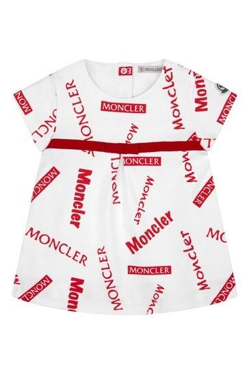 Moncler 아기 소녀 화이트 코튼 세트
