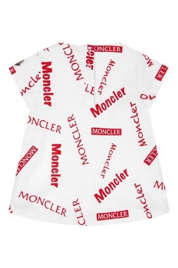 Moncler Baby Girls White Cotton Set