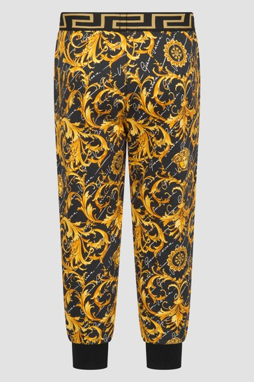 Girls Gold Baroque Joggers