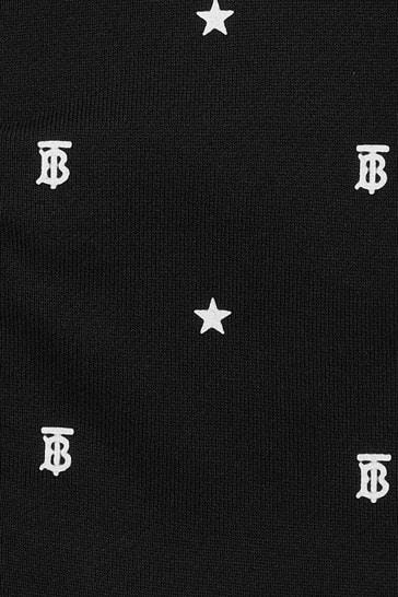 Baby Boys Black Cotton Zip Up Sweat Top