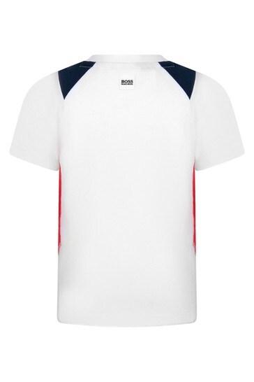 베이비 보이즈 화이트 코튼 티셔츠