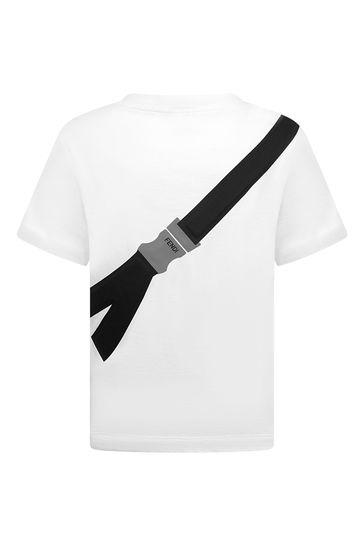 Boys White Cotton T-Shirt