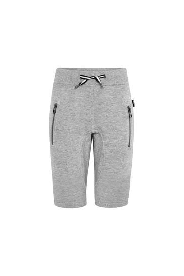 Boys Grey Cotton Shorts